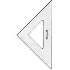 Esquadro para Desenho sem Graduação Acrílico 45 32cm 2532