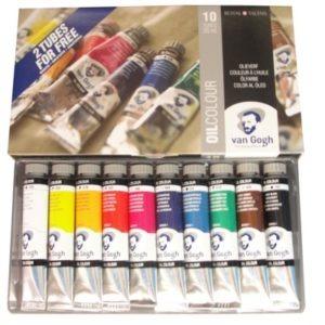 Estojo Tinta a oleo Talens Van Gogh com 10 cores