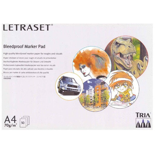 Bleedproof Marker Letraset Bloco A4