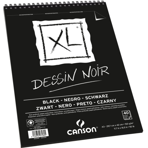 Bloco de Desenho A3 XL Dessin Noir