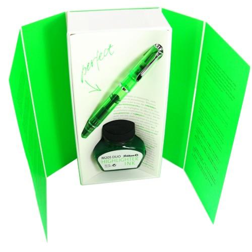 Edição Especial Caneta Tinteiro Pelikan Duo 205 Shiny Green