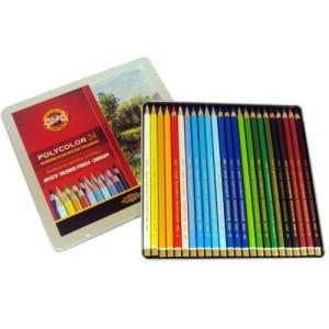 Lápis Polycolor para Desenho 24 Cores Paisagens