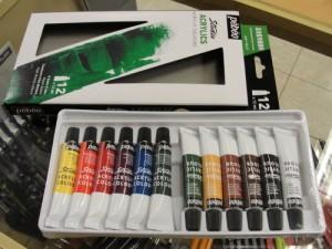 Tinta Acrílica Para Tela 12 Cores 12ml Pébéo 2