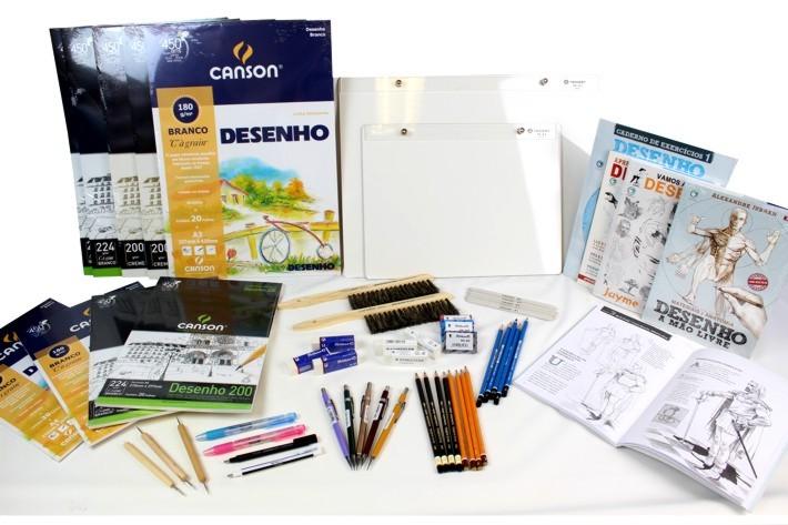 materiais material para desenho realista comprar preço valor