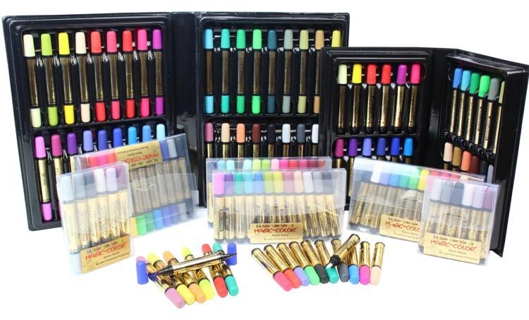 magic color permanente caneta ponta dupla ponta unica estojo