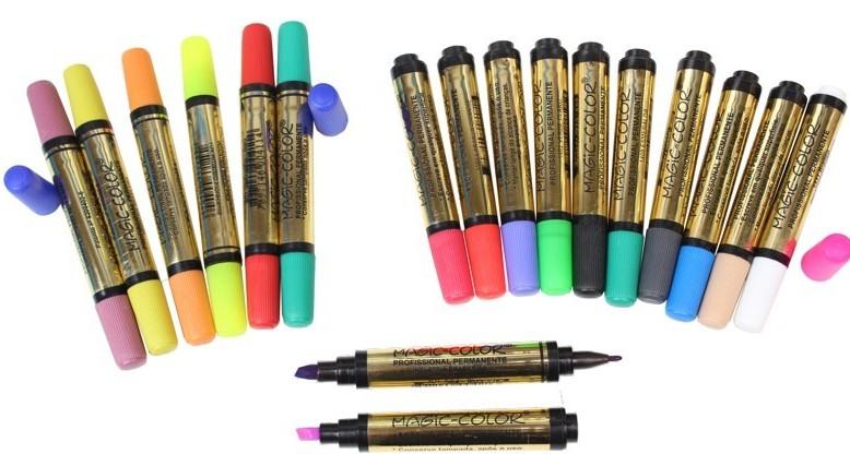 marcador caneta magic color permanente