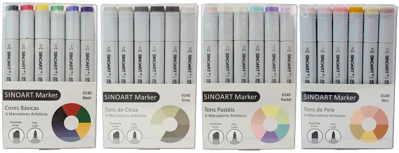 caneta marker artist sinoart basica frente