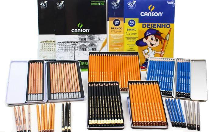 lápis graduado para desenho tecnico artistico