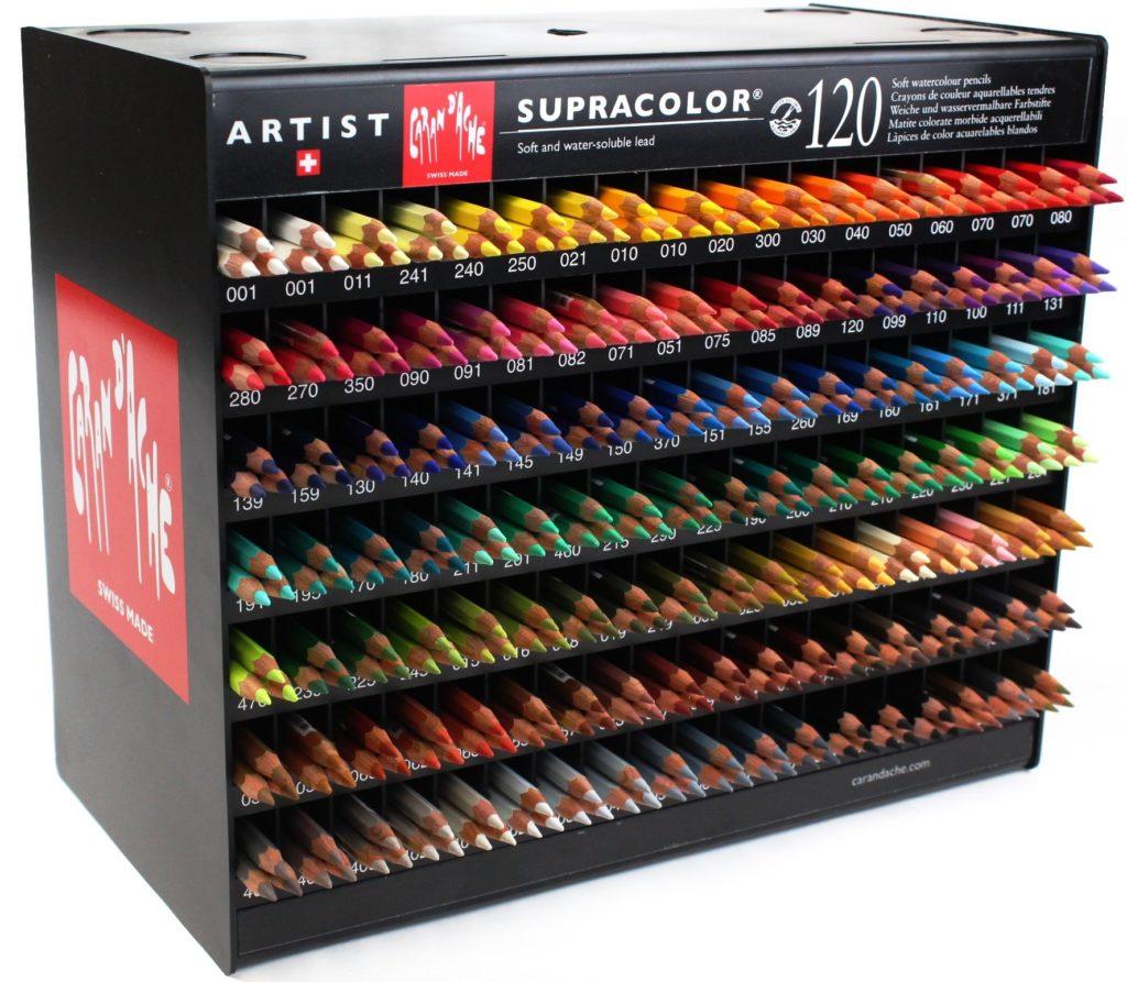 lapis supracolor 120 cores avulsa caran d ache