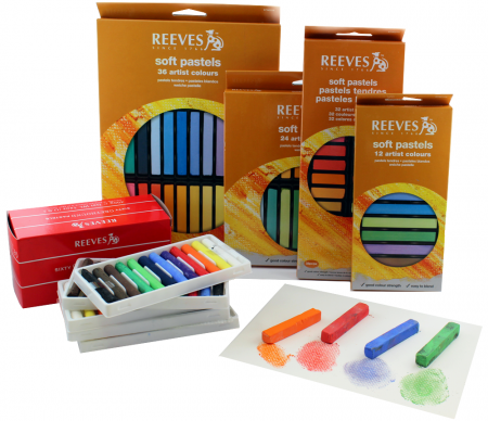 pastel seco reeves 12 36 24 cores