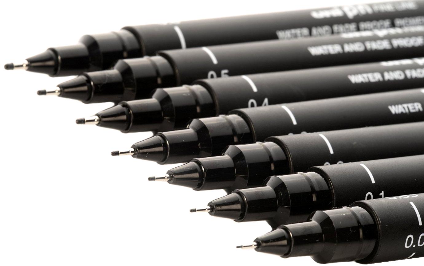 caneta nanquim uni pin descartavel